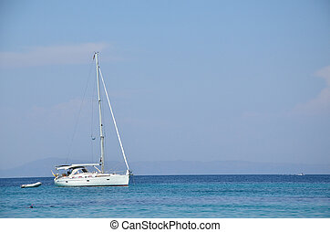 Sailing Boat in Summertime