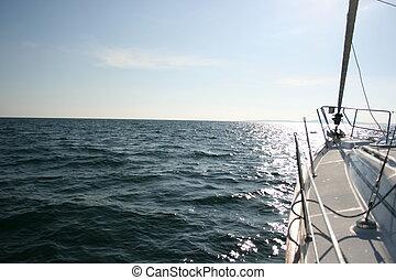 Sailing boat out at sea