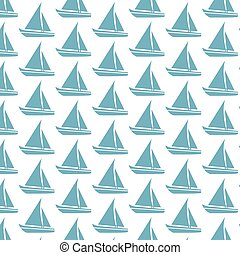 Sailing boat pattern background