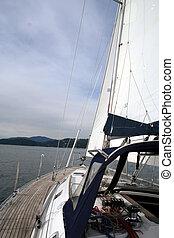 Sailing Boat - Sailing in English Bay