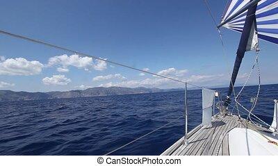 Sailing boat shot in full HD