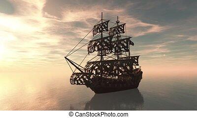 Sailing boat - 3D CG rendering of a sailing boat.