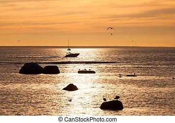 sailing boat sunset