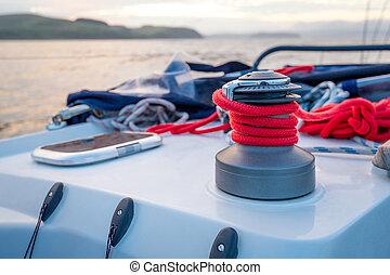 Sailing boat winch