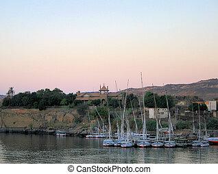 Sailing boats at Aswan 2