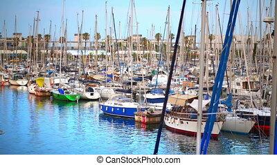 Sailing Boats in Barcelona
