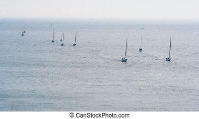sailing boats ni the sea