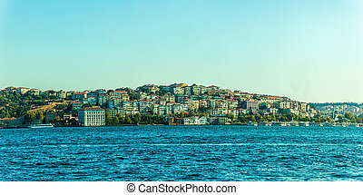 Sailing Bosphorus, Istanbul - Panorama of the Istanbul...