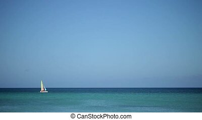 Sailing catamaran boat