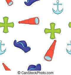 Sailing equipment pattern, cartoon style