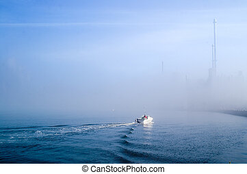 Sailing fog banks