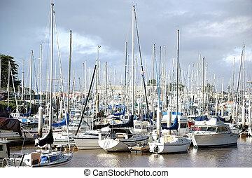 Sailing harbor