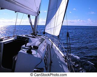 sailing in Atlantic