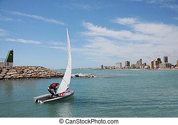 Sailing in Campello Alicante Spain
