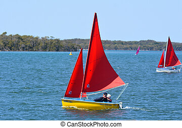 Sailing in Gold Coast Queensland Australia