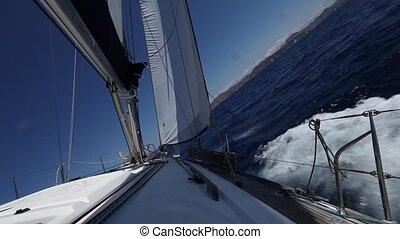 Sailing in Greece. Yachting.  (HD)