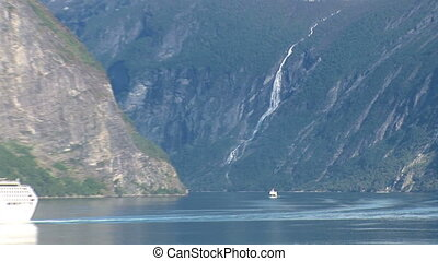 Sailing in the fjords of Norway