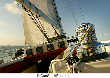 Sailing in tropical climate - A peaceful, relaxing sail on a...