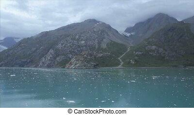 Sailing inside Glacier Bay National Park, Alaska