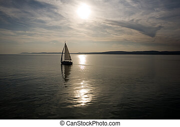 Sailing into the sunset.