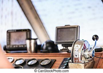 Sailing navigation panel console on boat - Sailing ...