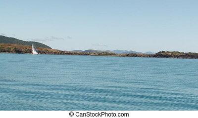 Sailing near an island