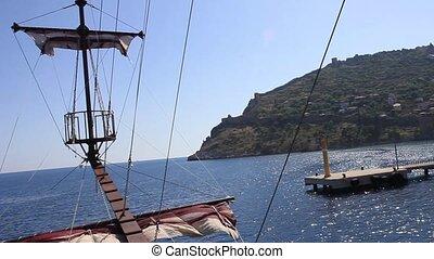 Sailing on a ship