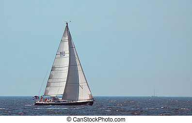 sailing on a summerday - sailing on a day in summer