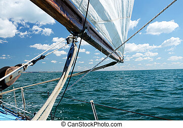 Sailing on a sunny day
