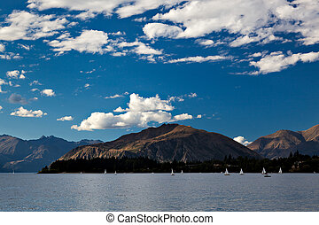 Sailing on Lake Wanaka