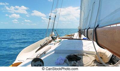 Sailing on the Caribean Sea