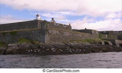 Sailing past a castle