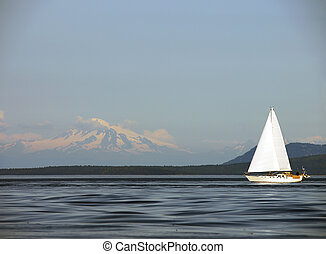 Sailing Past Mount Baker