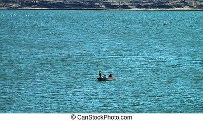 Sailing past the big sea