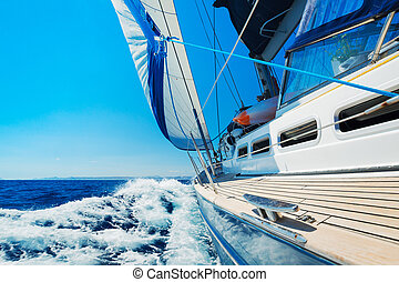 Sailing - Yacht, Sailing boat in the sea