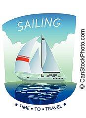 Sailing Poster Illustration