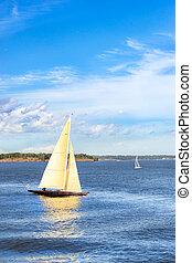 Sailing regatta in Helsinki, Finland