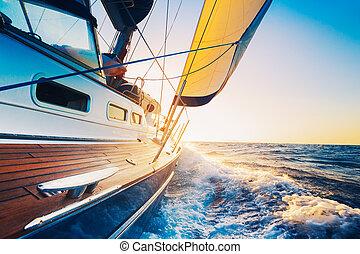 Sailing - sailing into the sunset