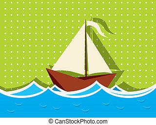 Sailing ship graphic
