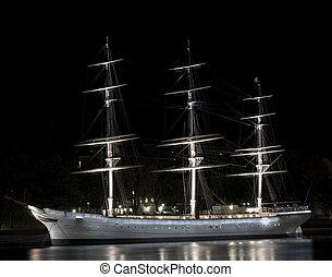 Sailing ship in Stockholm