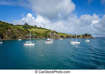 Sailing ship in Waiheke Island near Auckland, New Zealand