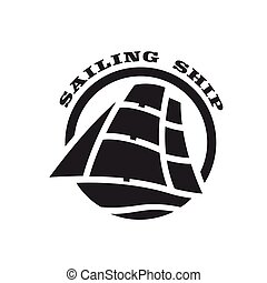 Sailing ship logo, symbol.