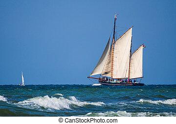 Sailing ship on the Baltic Sea.
