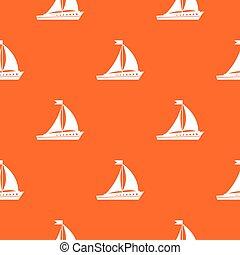 Sailing ship pattern seamless