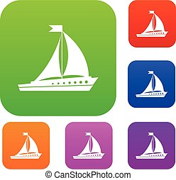 Sailing ship set collection