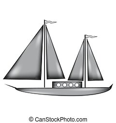 Sailing ship sign icon.