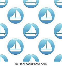 Sailing ship sign pattern