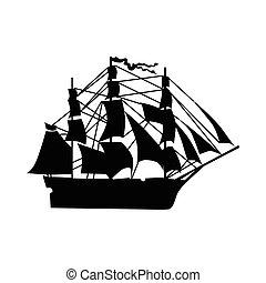 Sailing ship silhouette
