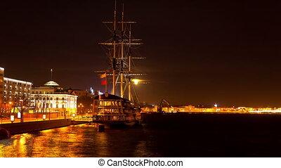 sailing Ship St. Petersburg. Russia