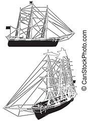 Sailing Ship Vector